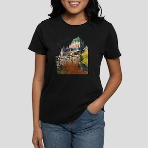 Frontenac Castle Quebec Signa Women's Dark T-Shirt
