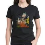 Frontenac Castle Quebec Signa Women's Dark T-Shirt
