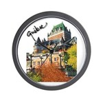 Frontenac Castle Quebec Signa Wall Clock