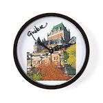 Frontenac Castle Quebec Signa Wall Clock