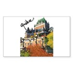 Frontenac Castle Quebec Signa Sticker (Rectangular