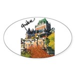 Frontenac Castle Quebec Signa Oval Sticker