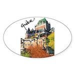 Frontenac Castle Quebec Signa Oval Sticker