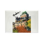 Frontenac Castle Quebec Signa Rectangle Magnet (10