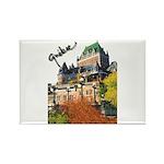 Frontenac Castle Quebec Signa Rectangle Magnet (10