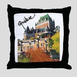 Frontenac Castle Quebec Signa Throw Pillow