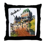 Frontenac Castle Quebec Signa Throw Pillow