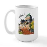 Frontenac Castle Quebec Signa Large Mug