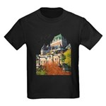 Frontenac Castle Quebec Signa Kids Dark T-Shirt