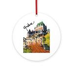 Frontenac Castle Quebec Signa Ornament (Round)