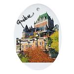Frontenac Castle Quebec Signa Oval Ornament