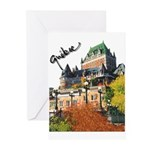 Frontenac Castle Quebec Signa Greeting Cards (Pk o