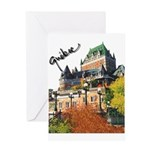 Frontenac Castle Quebec Signa Greeting Card