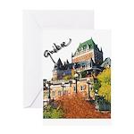 Frontenac Castle Quebec Signa Greeting Card