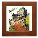 Frontenac Castle Quebec Signa Framed Tile