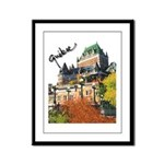 Frontenac Castle Quebec Signa Framed Panel Print