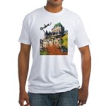 Frontenac Castle Quebec Signa Fitted T-Shirt