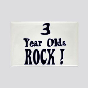 3 Year Olds Rock ! Rectangle Magnet