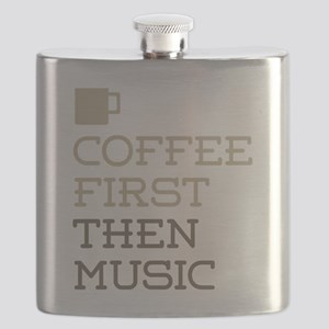 Coffee Then Music Flask