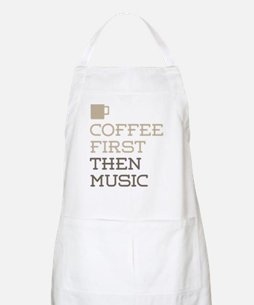 Coffee Then Music Apron