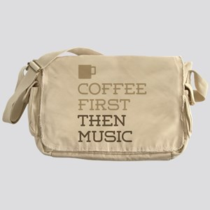 Coffee Then Music Messenger Bag