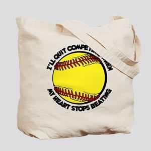 QUIT SOFTBALL (both sides) Tote Bag
