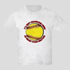 QUIT SOFTBALL Kids Light T-Shirt