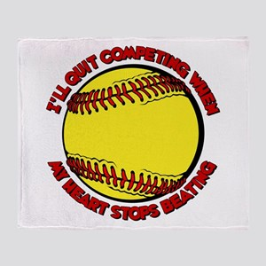 QUIT SOFTBALL Throw Blanket