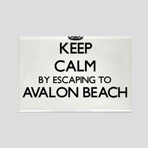 Keep calm by escaping to Avalon Beach Cali Magnets