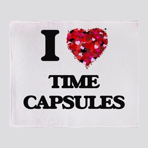 I love Time Capsules Throw Blanket