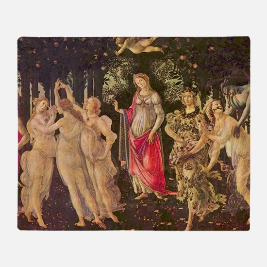 Primavera by Botticelli Throw Blanket