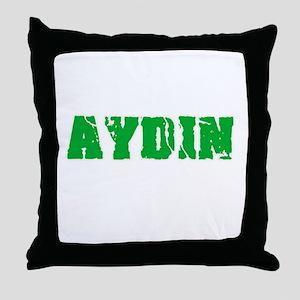 Aydin Name Weathered Green Design Throw Pillow