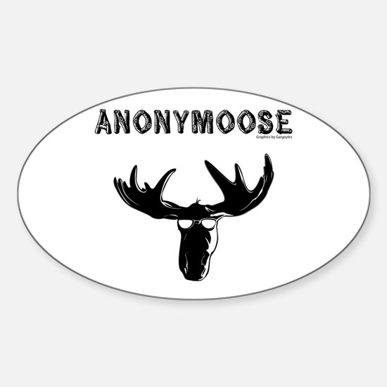 anonymoose Oval Decal