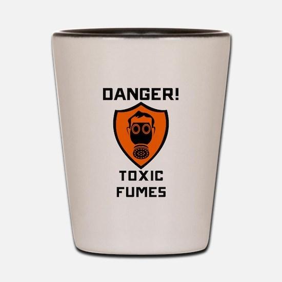 Danger Toxic Fumes Shot Glass