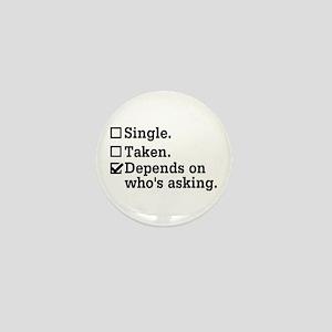 Single? Mini Button (10 pack)