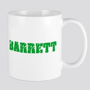 Barrett Name Weathered Green Design Mugs