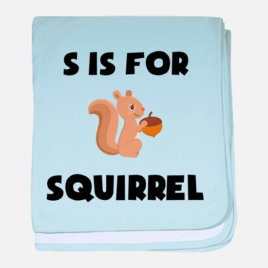 S Is For Squirrel baby blanket