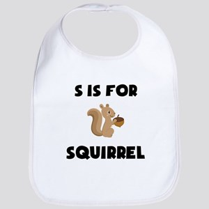 S Is For Squirrel Bib
