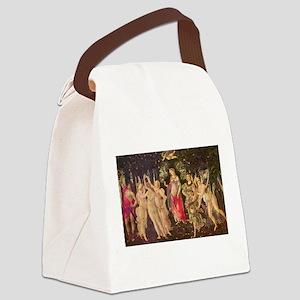 Primavera by Botticelli Canvas Lunch Bag