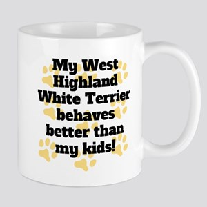 My West Highland White Terrier Behaves Better Mugs