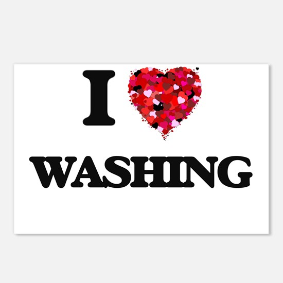 I love Washing Postcards (Package of 8)