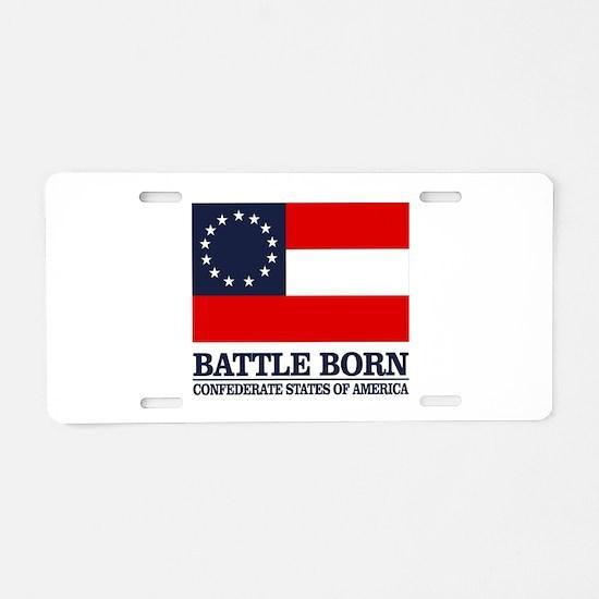 Battle Born Aluminum License Plate