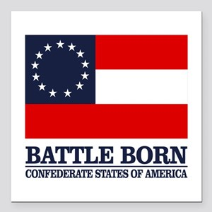 "Battle Born Square Car Magnet 3"" x 3"""
