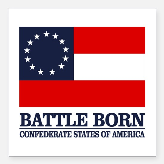 """Battle Born Square Car Magnet 3"""" x 3"""""""