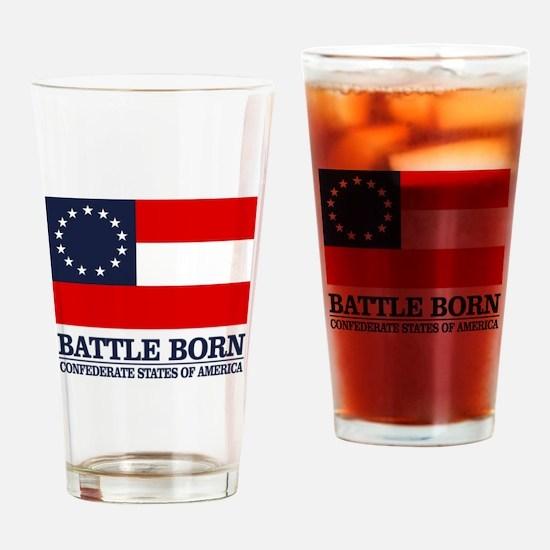 Battle Born Drinking Glass