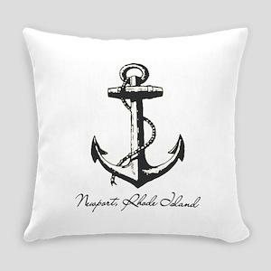 Newport, Rhode Island Anchor Everyday Pillow