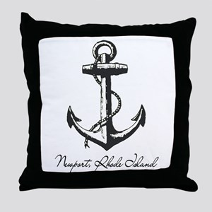Newport, Rhode Island Anchor Throw Pillow