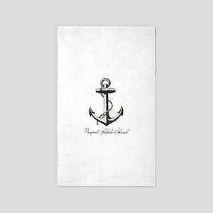 Newport, Rhode Island Anchor Area Rug