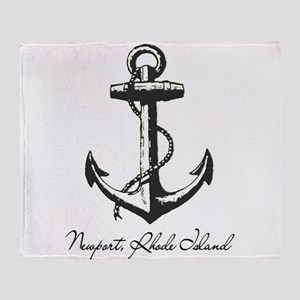 Newport, Rhode Island Anchor Throw Blanket