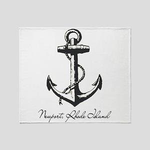 Newport, Rhode Island Anchor Throw Blanket